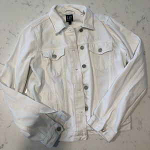 Classic GAP white jean jacket  - size small